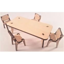 Puzzle 3D - Masa cu scaune